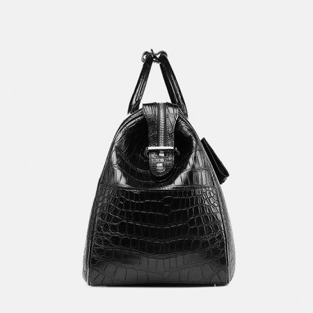 Crocodile Duffle Bag, Alligator Duffle Bag-Side