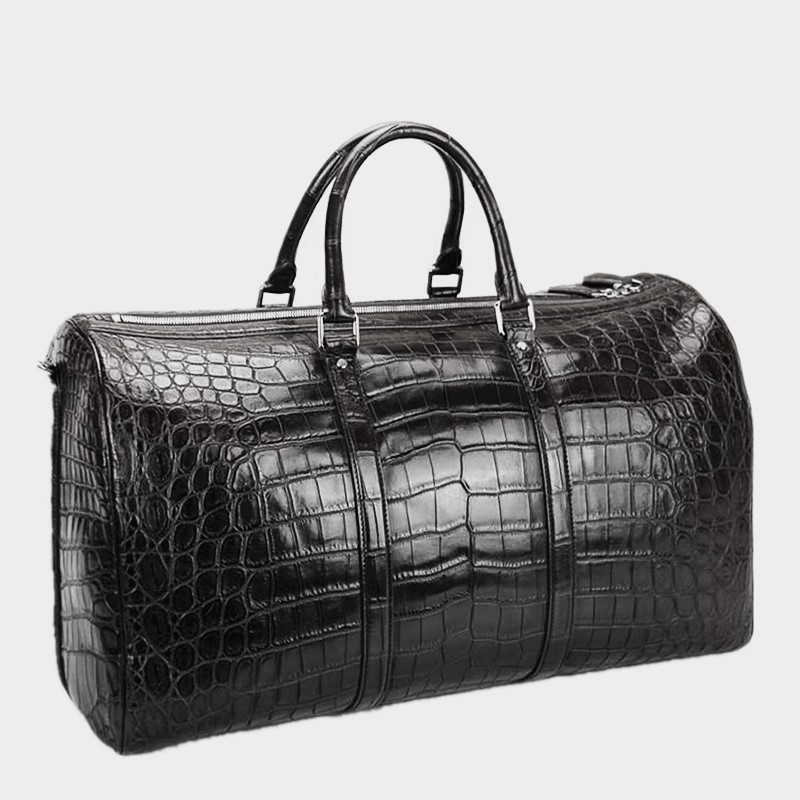 Crocodile Duffle Bag, Alligator Duffle Bag for Men