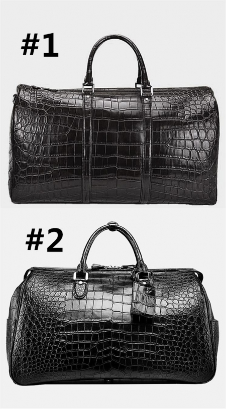 Crocodile Duffle Bags and Alligator Duffle Bags for Men