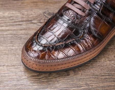 Designer Lace up Alligator Shoes Casual Alligator Sneakers for Men-Details