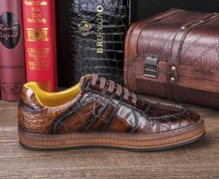 Designer Lace up Alligator Shoes Casual Alligator Sneakers for Men-Side-1
