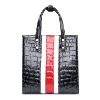 Elegant Alligator Handbags Shoulder Bag Tote Bag-Black