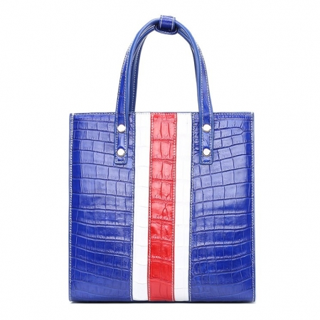 Elegant Alligator Handbags Shoulder Bag Tote Bag-Blue