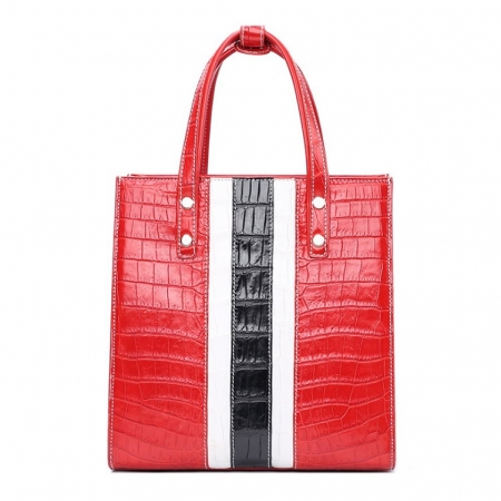 Elegant Alligator Handbags Shoulder Bag Tote Bag-Red