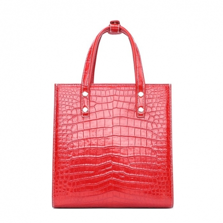Elegant Alligator Handbags Shoulder Bag Tote Bag-Red-Back