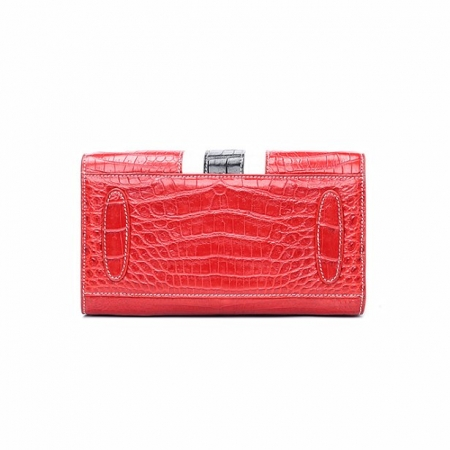Elegant Alligator Handbags Shoulder Bag Tote Bag-Red-Bottom