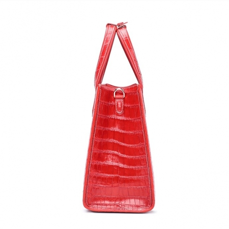 Elegant Alligator Handbags Shoulder Bag Tote Bag-Red-Side