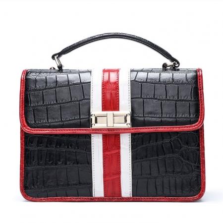 Fashion Alligator Cross-body Purse Shoulder Bags-Black