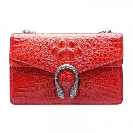 Fashion Crocodile Leather Cross Body Purse Shoulder Bag for Ladies