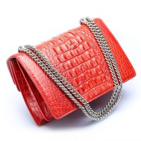 Fashion Crocodile Leather Cross Body Purse Shoulder Bag for Ladies-Back
