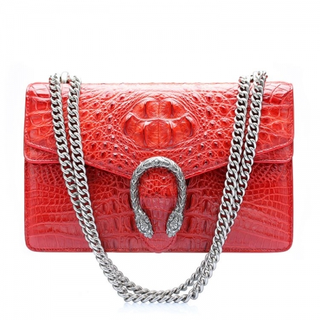 Fashion Crocodile Leather Cross Body Purse Shoulder Bag for Ladies-Front