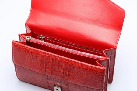 Fashion Crocodile Leather Cross Body Purse Shoulder Bag for Ladies-Inside