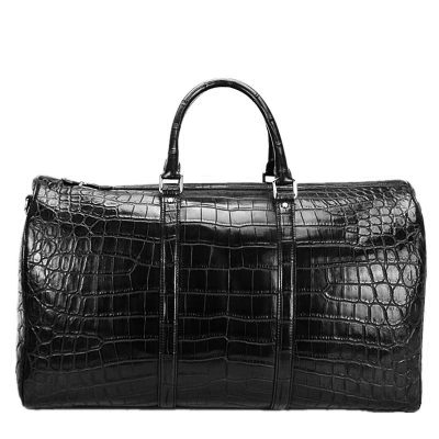 Genuine Alligator Leather Travel Weekender Overnight Duffel Bags for Men