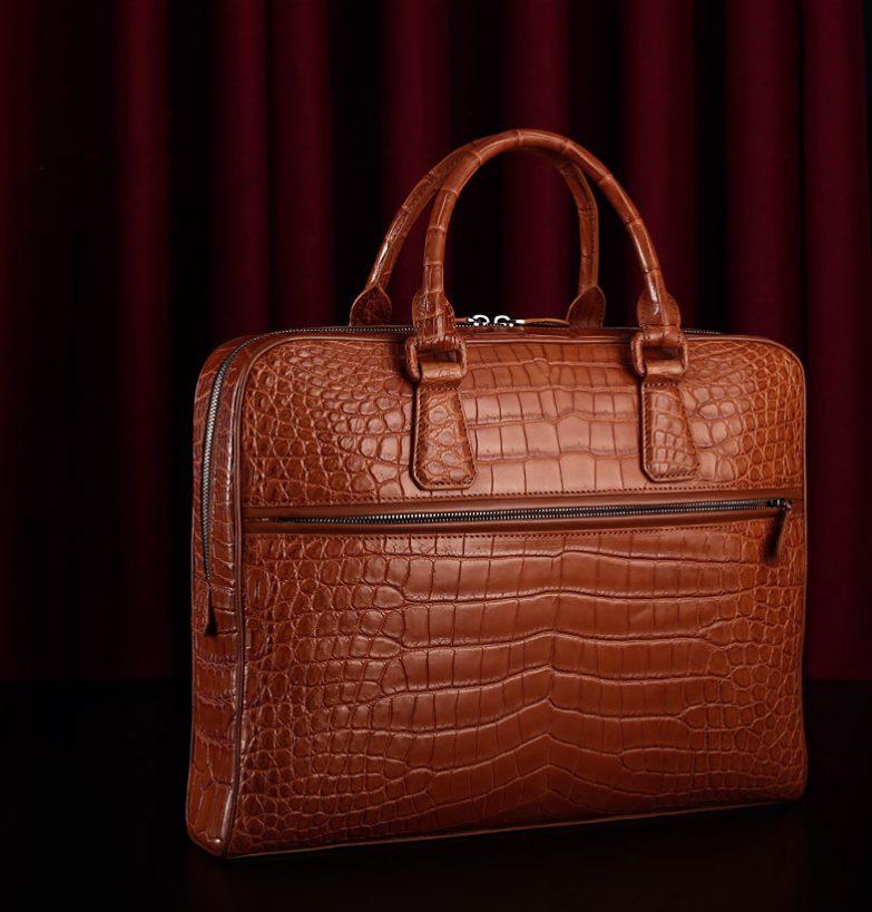 Genuine alligator skin briefcase-2018