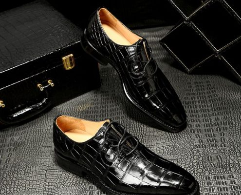 Handmade alligator dress shoes for men