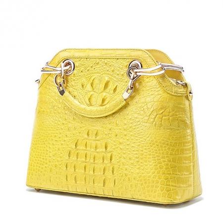 Ladies Genuine Crocodile Handbag Top Handle Purse