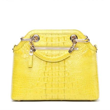 Ladies Genuine Crocodile Handbag Top Handle Purse-Back