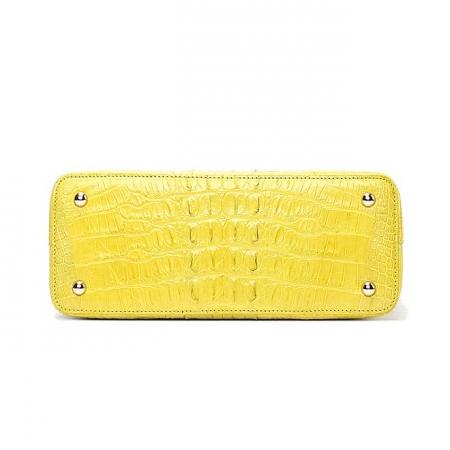 Ladies Genuine Crocodile Handbag Top Handle Purse-Bottom
