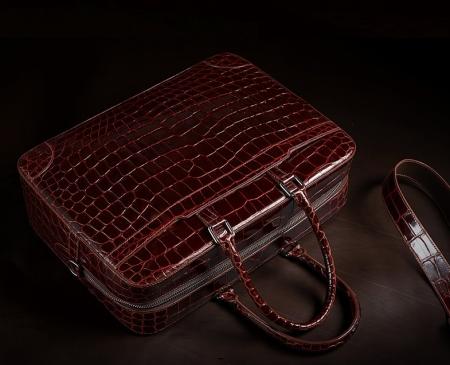 Luxury Alligator Briefcase Laptop Shoulder Bag Business Bag