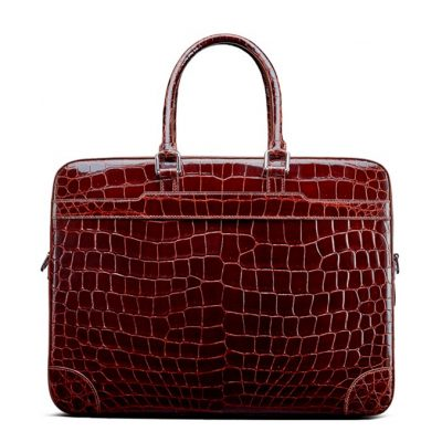 Luxury Alligator Briefcase Laptop Shoulder Bag Business Bag for Men