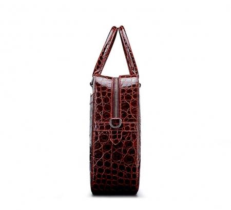 Luxury Alligator Briefcase Laptop Shoulder Bag Business Bag for Men-Side