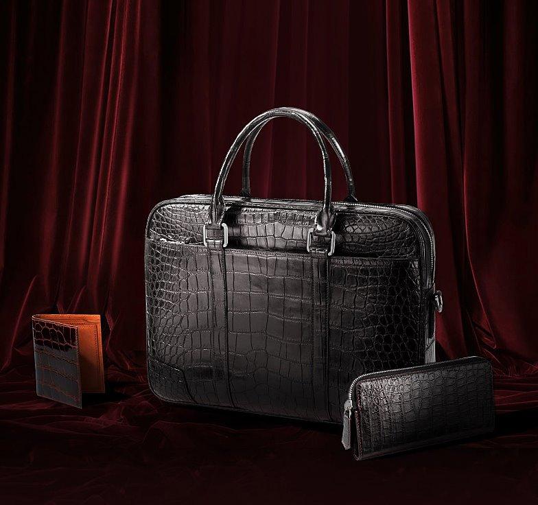 alligator leather briefcase-2018