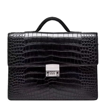 Alligator Leather Lawyers Briefcase Messenger Bag Business Bag for Men