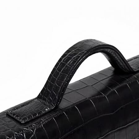 Alligator Leather Lawyers Briefcase Messenger Bag Business Bag for Men-Handle
