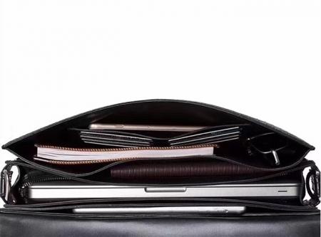 Alligator Leather Lawyers Briefcase Messenger Bag Business Bag for Men-Inside