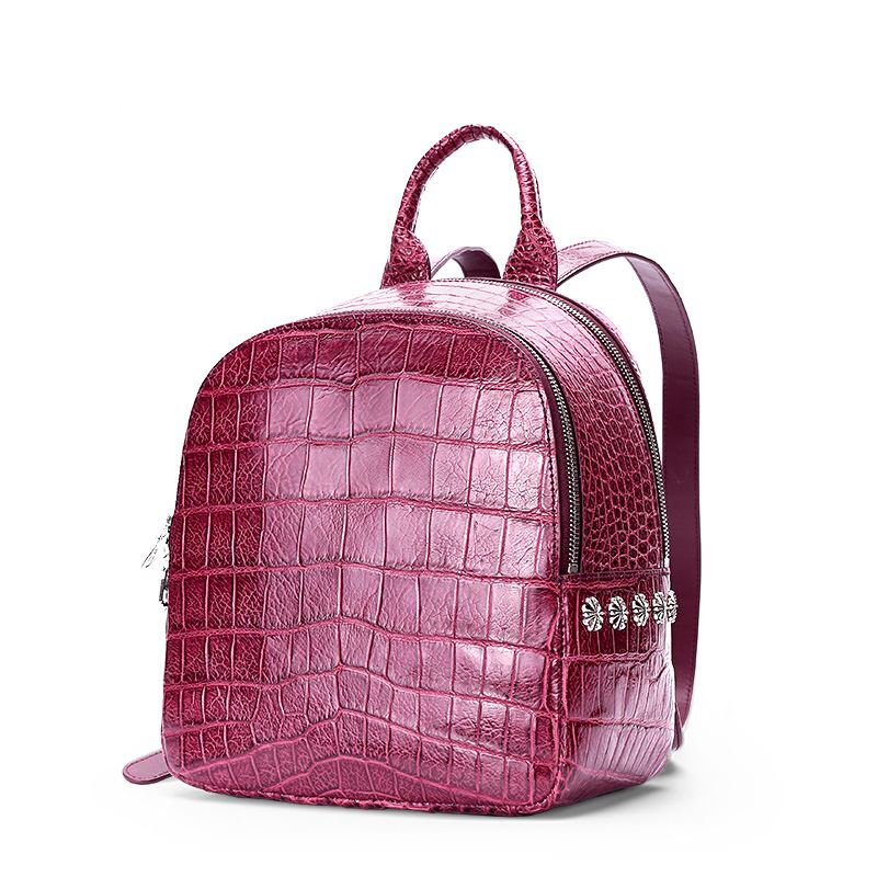 Back to School with BRUCEGAO-Alligator Backpacks-Purple