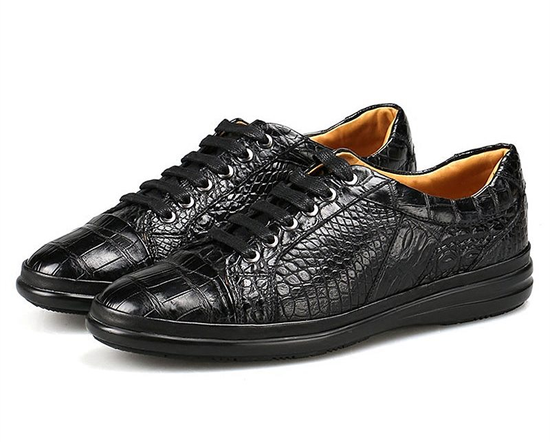 Back to School with BRUCEGAO' Alligator Sneakers-Black