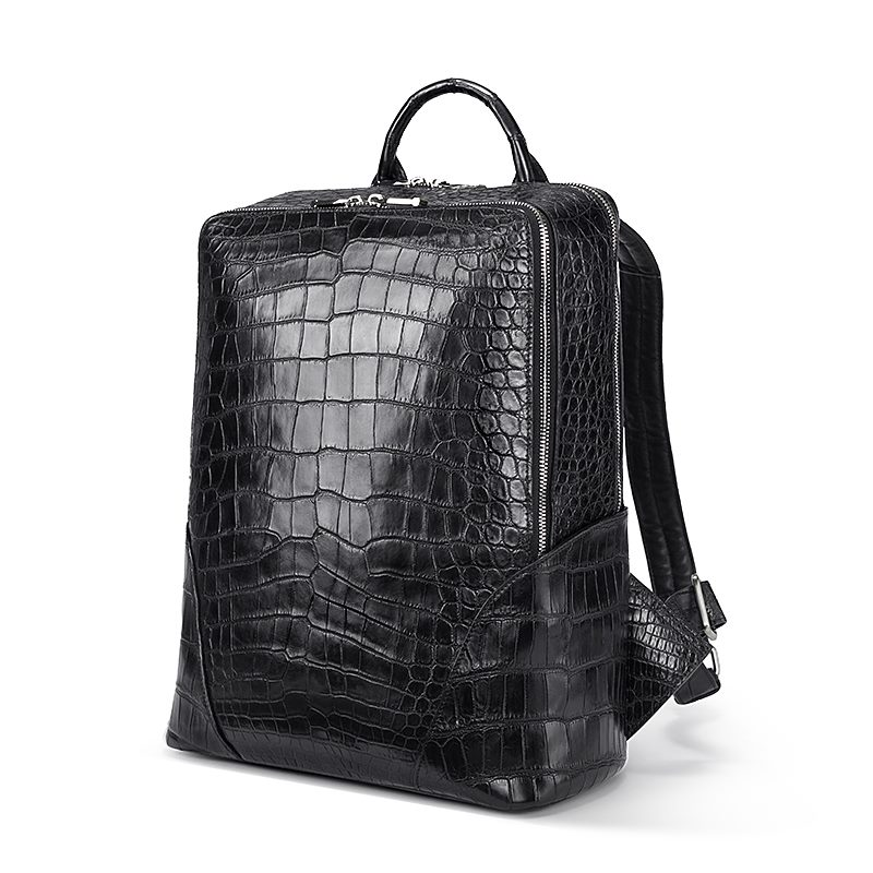 Back to School with BRUCEGAO's Alligator Backpacks-Black