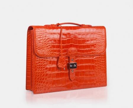 Businesswomen Alligator Leather Handbag