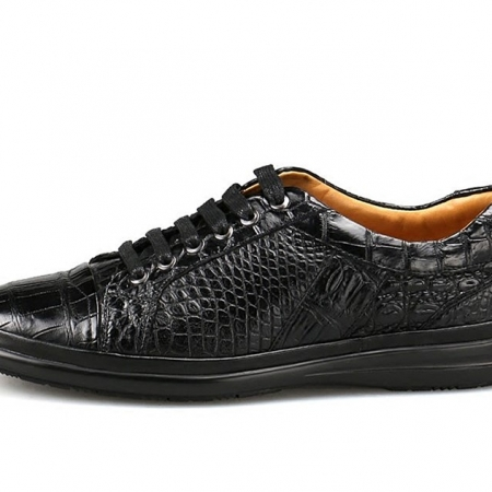 Casual Alligator Shoes Fashion Alligator Sneakers for Men-Side