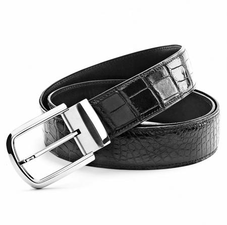Classic Alligator Belt Adjustable Dress Belt for Men