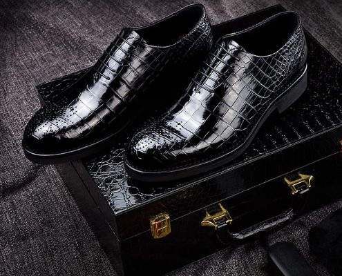 Classic Alligator Leather Dress Shoes for Men