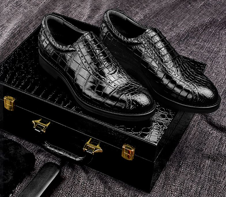 Classic Crocodile Leather Shoes for Men