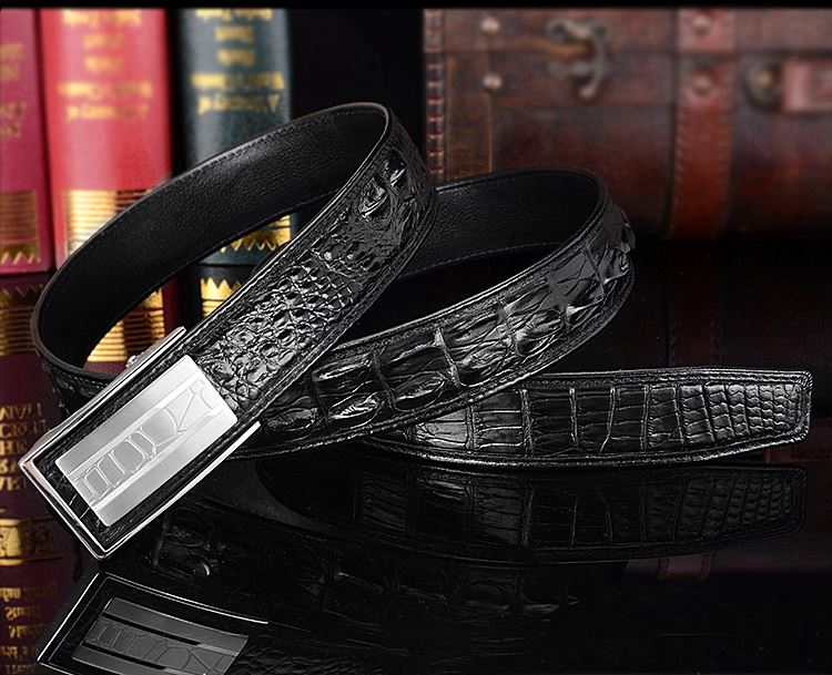 Fashion Alligator Belt, Reversible Alligator Leather Belt for Men
