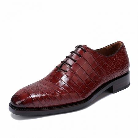 Formal Alligator Oxford Alligator Leather Dress Shoes for Men