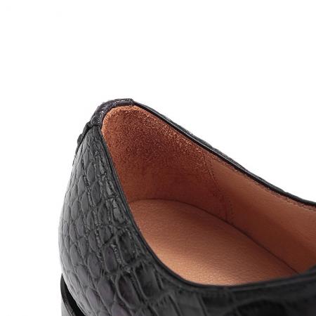Formal Alligator Oxford Alligator Leather Dress Shoes for Men-Gray-Details