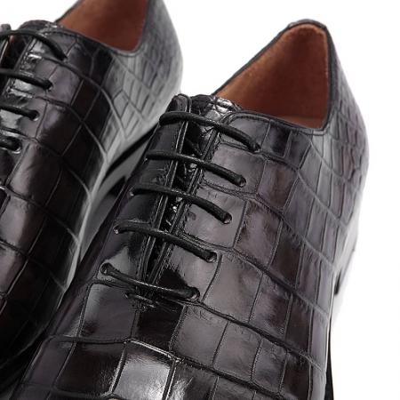 Formal Alligator Oxford Alligator Leather Dress Shoes for Men-Gray-Lace up