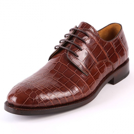 Formal Handmade Alligator Leather Lace up Oxford Dress Shoes
