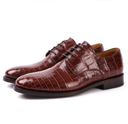 Formal Handmade Alligator Leather Lace up Oxford Dress Shoes for Men
