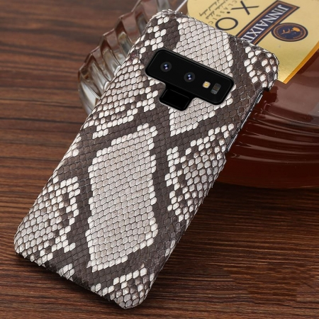 Galaxy Note 9 Snakeskin Case-Python Back Skin-White