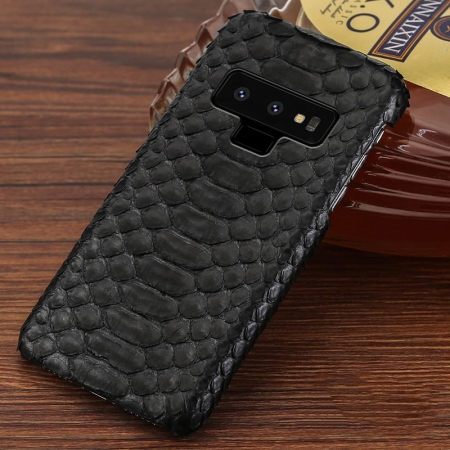 Galaxy Note 9 Snakeskin Case-Python Belly Skin-Black