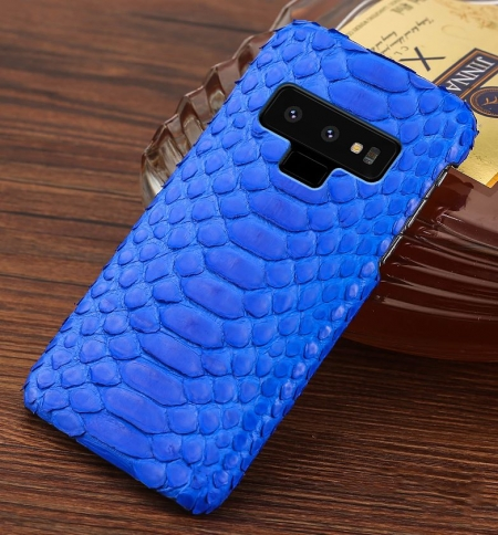 Galaxy Note 9 Snakeskin Case-Python Belly Skin-Blue