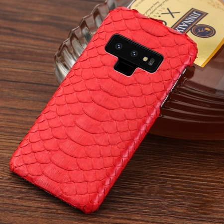 Galaxy Note 9 Snakeskin Case-Python Belly Skin-Red