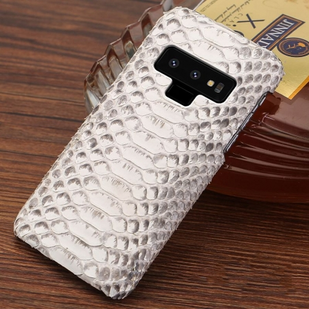 Galaxy Note 9 Snakeskin Case-Python Belly Skin-White