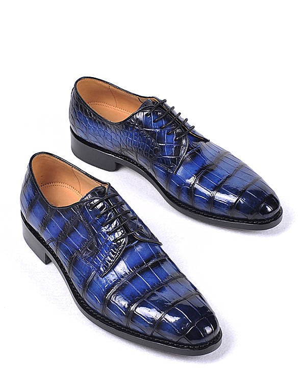 Leather Shoes for Men-Blue