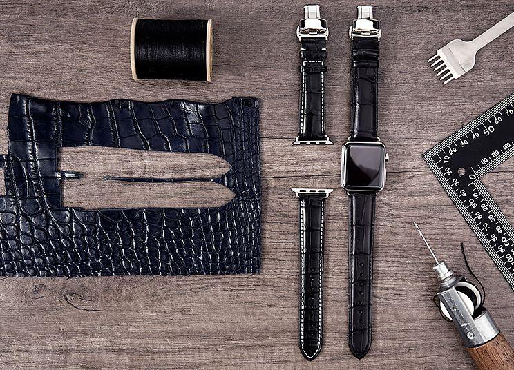 Luxury Apple Watch Bands-Black